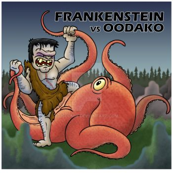 KaiJuly Day 20: Frankenstein Conquers the World by JSComix