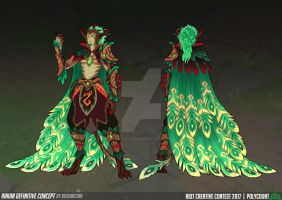 League of Legends - Elderwood Rakan (Fan Skin) by Red-Sinistra