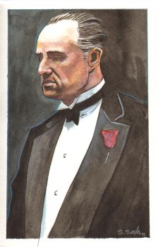 The Godfather Watercolor.... by ssava