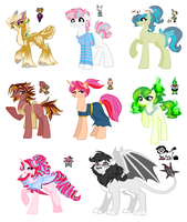 undertale themed pony adopts part 1 (CLOSED) (OTA) by SapphireScarletta