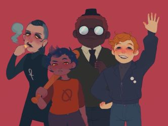 the gang's all here by Luxjii