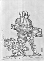 deadpool and rocket raccon by nic011