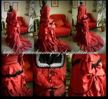 1800s Dress red rose by YattaChanCosplay