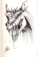 Dragon Sketch by Arzel-Vorster
