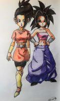 Kale and Caulifla by Unmei-no-kaioshin