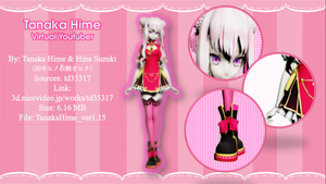 [MMD MODEL DL/VY] Tanaka Hime ver 1.15 by someMMDowo
