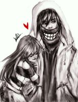 Kaya OC and Jeff the Killer (Alternative Version) by Dcolares