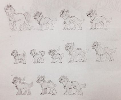 Arene (Pup) Evolution by WildPacksArt