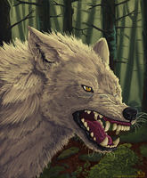 Wolf of the Woods by Mongrelistic