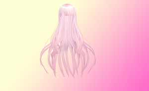 Long pink hair with bangs by amiamy111