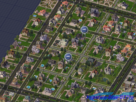 The Town of Full wealthy mansions by Hyperion-Blue-GTPro