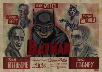 The Batman circa 1946 by babygorilla