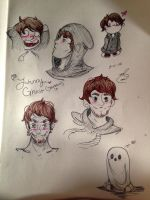 Sketches #1 (Johnny Ghost) by Maddiemarriedallama