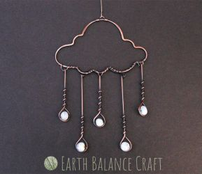 Gemstone Rain Cloud Decoration by EarthBalanceCraft
