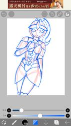 WIP: Long time to didn't do digital arts :v by Dogey290