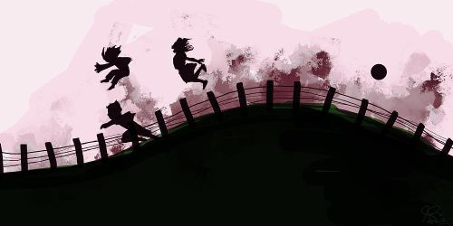 Running Along A Fence by static-pen