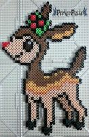 Christmas Deerling by PerlerPixie