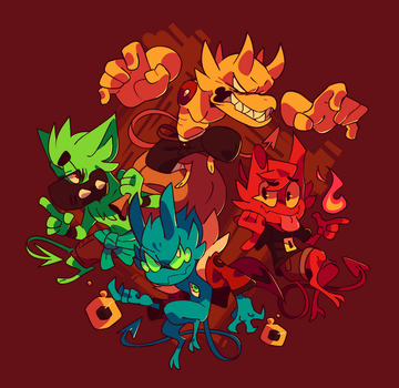 Demon Squad by Ionic-Isaac