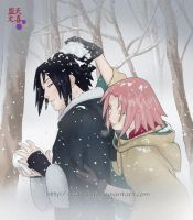 Snowfight - SasuSaku by Regi-chan