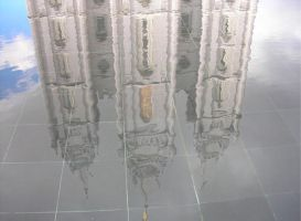 Reflection pool SLC temple by allieryan