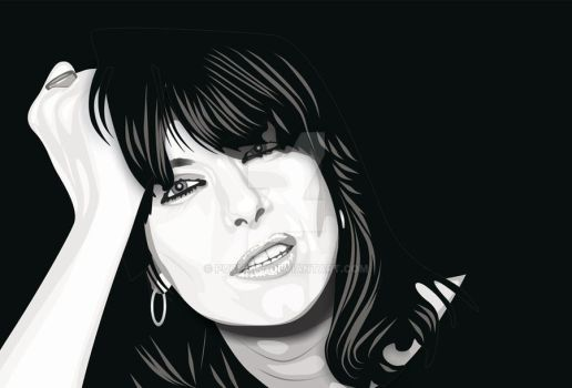 Chrissie Hynde Retrato vector by Puchalt