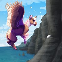 Cliff egg by Crystal-Gryphon
