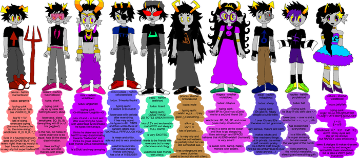 my fantrolls from 2013! by febur
