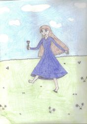Lady in Blue Dancing by Animorphs007