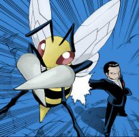 Giovanni and his Beedrill by CarryGreen