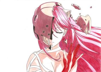 Elfen Lied Colour by ChazzReality-Wing