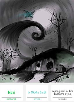 Navi+MiddleEarth+TimBurton=Mash-Up by PoeticTorment