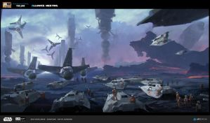 Art submitted for ILM challenge on Artstation by katya-gudkina