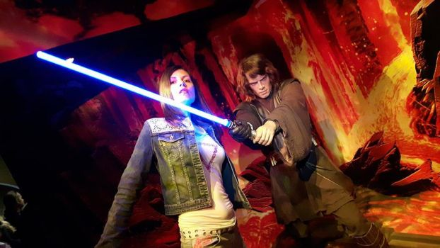 Madame Tussaud's: Anakin Skywalker and I by MissJulyFarraday