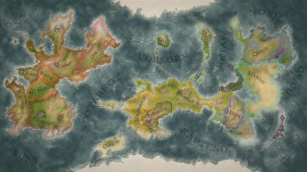 Fantasy Map II (with borders and names) by Be-Liebig