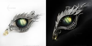 ERRAZH Dragon'e eye with labradorite by LUNARIEEN