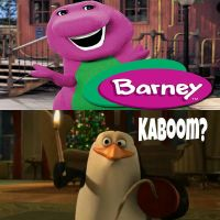 Rico wants to blow up Barney the Dinosaur by Wildcat1999
