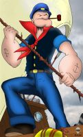Popeye the sailor man by Leon-The-Skull-King