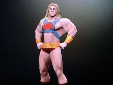 He-Man WWE '12 Alternate Pose by wallbie