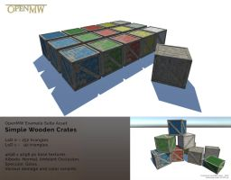 Simple Wooden Boxes for OpenMW by Berandas