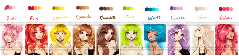 HairPalette v2. by Weslylix