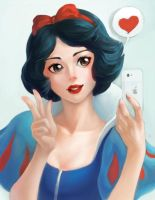 Snow White's new Apple by AutumnGoose