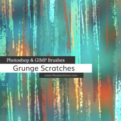 Grunge Scratches Photoshop and GIMP Brushes by redheadstock