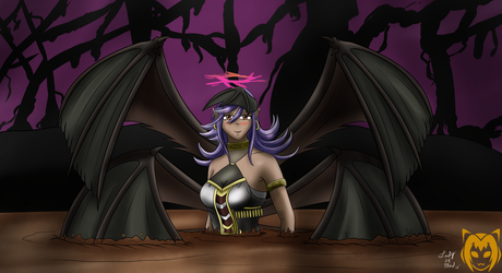 Darklord Ixchel in Quicksand by Lady-of-Mud