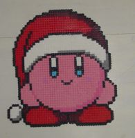 Hama Beads - Christmas Kirby by acidezabs