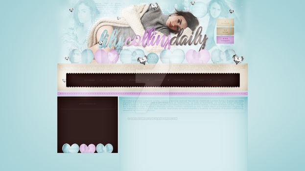 Ordered design (lilyjcollins-daily.blog.cz) by dailysmiley