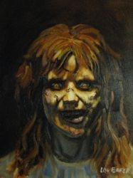 The Exorcist Linda Blair 16 by 20 oil painting by loubaker92164