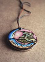 Inner island - wooden amulet by Aijoku