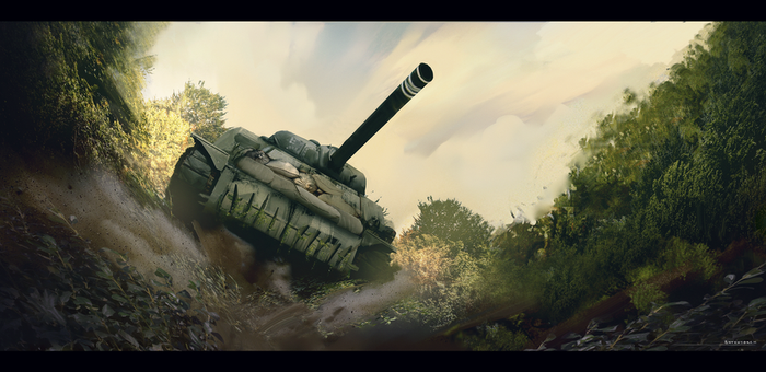 Through the bushes - personal painting. by antonjorch