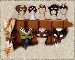 Leather mask collection by Eternal-designs-com