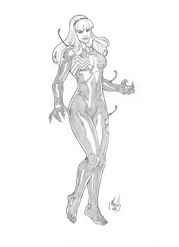 COMMISSION Gwen Symbiote PENCIL by MarkReindeer
